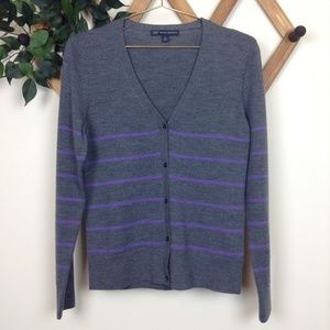Brooks Brothers 346 100% Merino Wool Cardigan